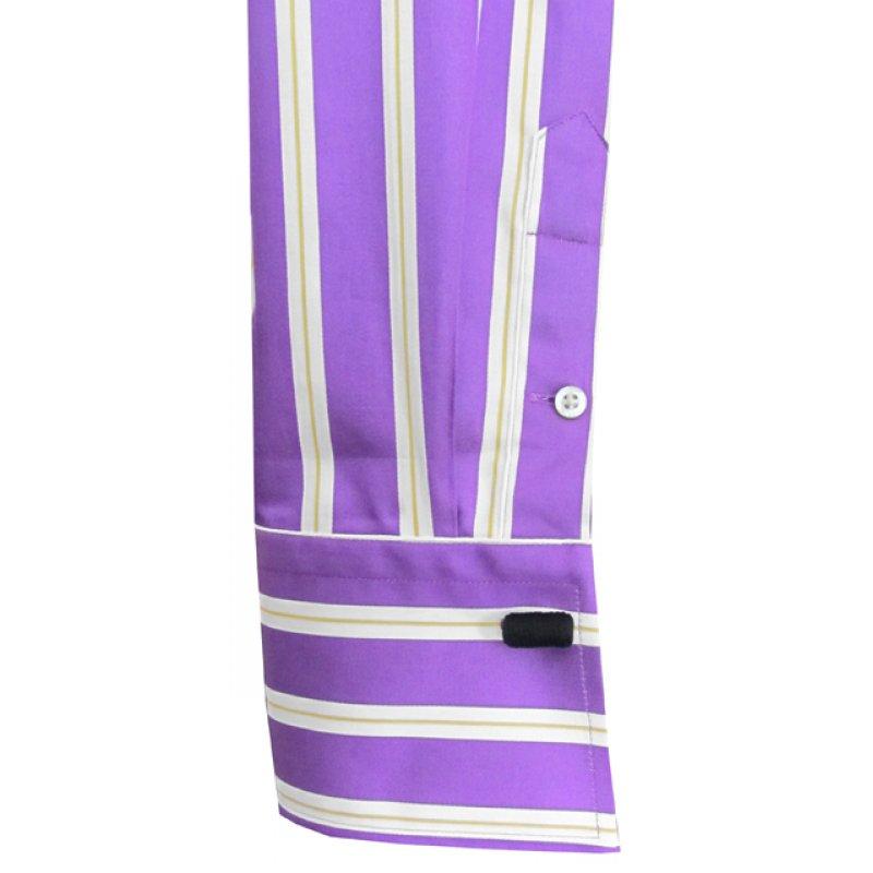 Bluse Gestreift Farbe Lila Weiss Gelb 69 00