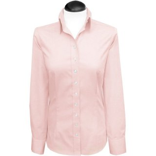Oxford Bluse 100% Cotton, Farbe: rosa uni L