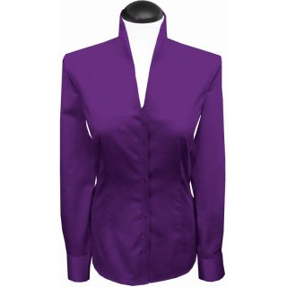 Stehkragenbluse, Farbe: bright violet M