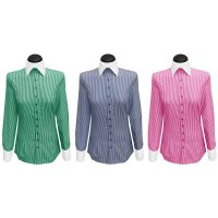 Contrast blouses striped with a white collar (expiring collection)