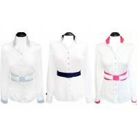Contrast blouses white 2-colored (expiring collection)