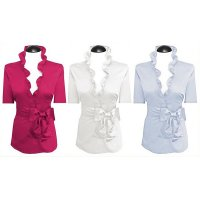 Shortsleeved ruffled blouses (expiring collection)