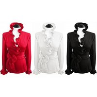 Ruffled wrapped blouses