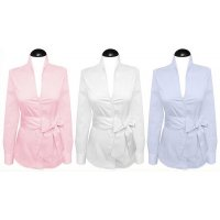 Plain stand up collar blouses