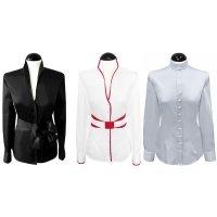 Discover our mandarin collar blouses....