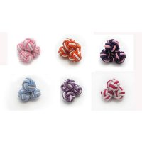 Knotted 2-colored cuff nodes. diameter: 0,31...