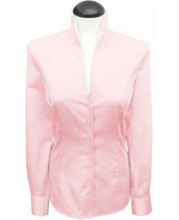 Stehkragenbluse, rosa