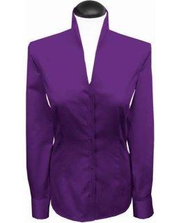 Stehkragenbluse, bright violet