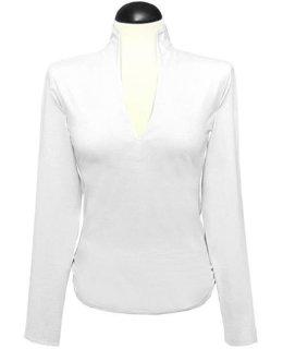 Stand up collar shirt, plain white